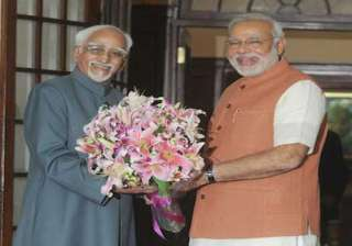 pm meets vice president hamid ansari - India TV