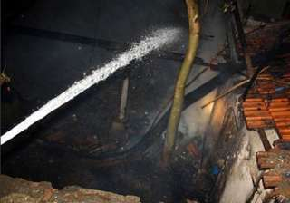 plastic godown gutted in delhi fire - India TV