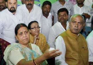 rabri devi to lead rjd in convicted lalu s...