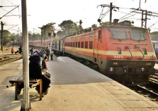 rajdhani express stalled by angry passengers over...