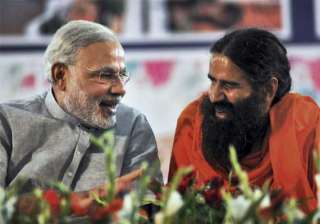 ramdev supporters forget yoga root for modi at...