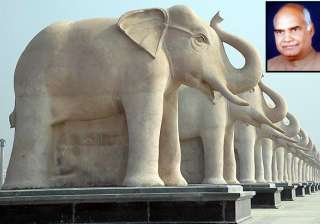 remove statues of bsp poll symbol in up bjp -...