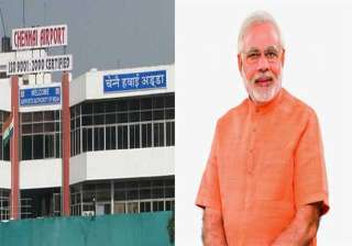 security beefed up at chennai airport ahead of pm...