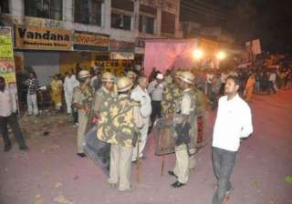 security reviewed ahead of durga puja in faizabad...