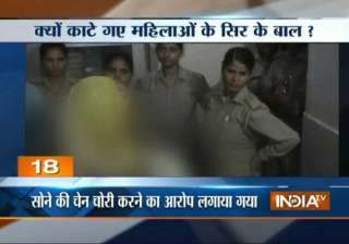 shameless up women thrashed hairs chopped by...