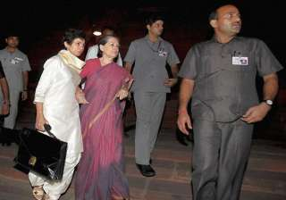 sonia gandhi did not require any definitive...