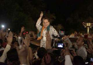 sonia big b srk come out on streets to celebrate...