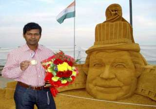 sudarshan pattnaik in sand sculpting world cup -...