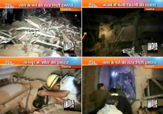 ten feared trapped two killed 9 injured in nagpur...