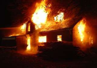 three women of family burnt to death in house...