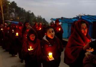 tibetans protest self immolation by monk - India...
