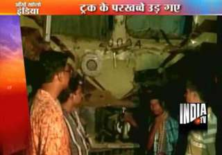 train rams into truck in west bengal truck driver...