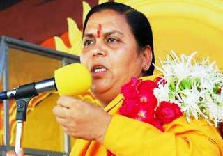 uma bharti opposes 9 pc reservation move for...