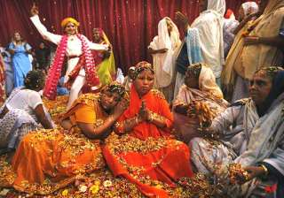 vrindavan widows play holi with colours gulal -...