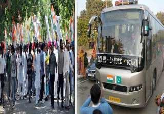 youth congress activists try to stop delhi lahore...
