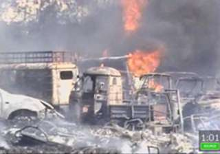 200 vehicles seized by hyderabad police gutted in...