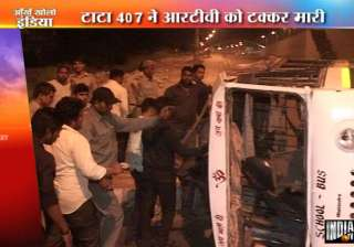 11 injured in rtv mini truck collision in delhi -...
