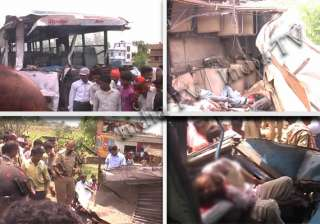 20 killed in collision between two buses in...