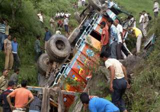 20 killed as truck falls down a gorge in punjab -...