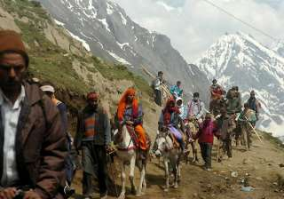 44 pilgrims leave for amarnath - India TV