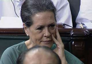 bjp blocks sonia s food bill in parliament but...