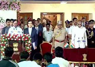 chandrasekhara rao sworn in as first cm of...