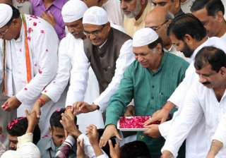 chouhan dons skull cap as he greets muslims on...