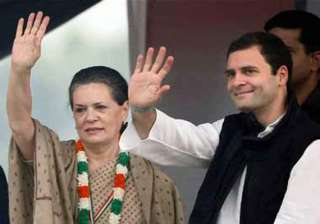 live reporting sonia rahul reject opinion polls...