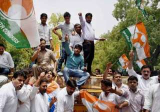 delhi congress protests against sugar price rise...