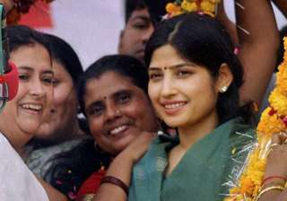 dimple yadav all set to be elected unopposed from...