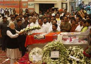 gopinath munde bid farewell by thousands of...