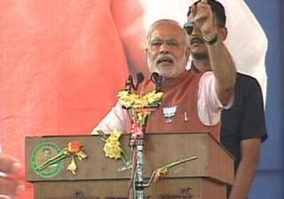 in pics narendra modi s rally in maharashtra and...