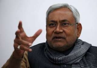 nitish mocks bjp for hosting mega show on...