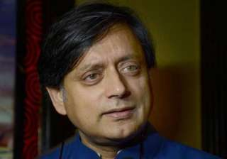 tharoor lashes out at media says he is being...