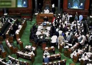 lok sabha disrupted over giriraj singh s remark...