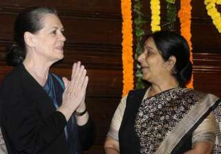 sonia rahul enquire about sushma s health - India...
