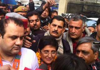 delhi polls bedi puts bjp scarf around lala...