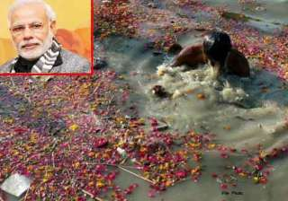 don t pollute ganga says modi - India TV