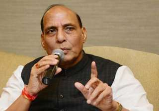 rajnath singh asks sayeed for land for kashmiri...