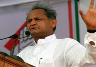 gehlot hits out at raje govt over oil refinery...