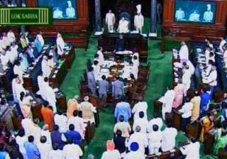 opposition ruckus over farmer s suicide forces...