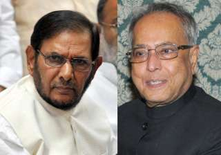 jd u support is for mukherjee not upa says sharad...