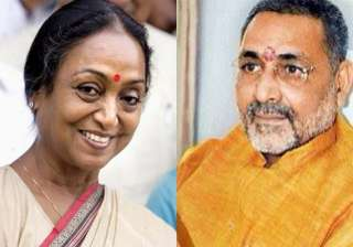 meira kumar giriraj singh file nominations papers...