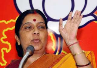 opposition not responsible for disruption sushma...