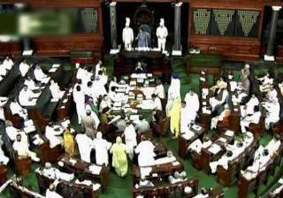 parliament disrupted over telangana adjourned -...