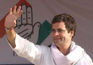 rahul gandhi shown black flags in allahabad -...