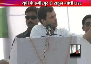 rahul lashes out at akhilesh govt in up in two...