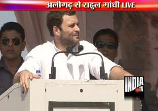 rahul predicts win in 2014 says upa gave rights...