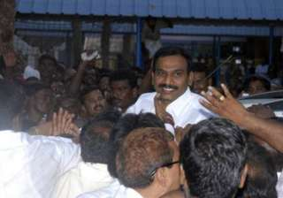 raja arrives to a rousing reception in chennai -...
