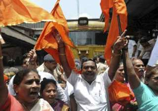 sena activists protest over controversial fb post...